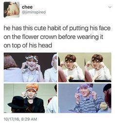 Awwww another one of Jimin's cute habits