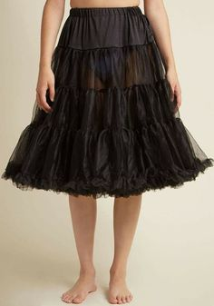 Lingerie - Long Petticoat Thanks to this classic black petticoat, your sprightly skirts and dresses bob with whimsy and vivacity. This ModCloth-exclusive petticoat features a comfortably elasticized waistband, fl Honeymoon Lingerie, Wedding Lingerie, Mom Dress, Dress Skirt, Long Petticoat, Buy Lingerie Online, Simplicity Fashion, Tulle, New Arrival Dress
