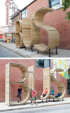 Bus Stop, Baltimore - excellent example of functional art and brilliant design.