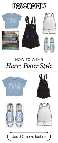 """""""Ravenclaw - Back to School"""" by disneyxrose on Polyvore featuring H&M and Michael Kors"""