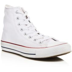 Converse Women's Chuck Taylor All Star High Top Sneakers (1.705 UYU) ❤ liked on Polyvore featuring shoes, sneakers, converse, 18. converse., white, hi tops, white high tops, white sneakers, high top trainers and white hi top sneakers
