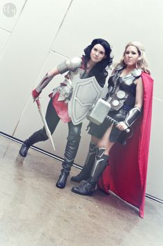 Lady Sif and Lady Thor Cosplays