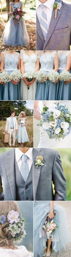 Serenity was named Color of The Year by Pantone making it the IT color for upcoming weddings. Be inspired by this handsomely calm color with our Wedding Inspiration Board. Find the perfect groomsmen accessories in Serenity Blue. Trendy Wedding, Perfect Wedding, Our Wedding, Dream Wedding, Wedding Blue, Blue Bridal, Grey Suits For Wedding, Wedding Reception, Tiffany Wedding