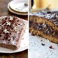 Gâteau de châtaigne à la crème chocolat-coco