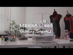 BERNINA overlocker/serger L 460: first steps, stitching preparation - YouTube