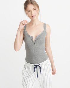 A&F Women's Lace Trim Cami