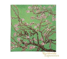 """Cherry Blossom Woven in U.S.A of 100% Cotton  $237.00 W 35"""" x H 35"""""""