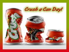 Crush a Can Day - September 27 national day - DownloadClipart.org