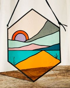 Keep chasing that horizon! So thrilled to have finally found a gray cathedral glass that I looove. Thanks a bunch kokomo! Listing this Daybreak in the shop today . link in bio! Modern Stained Glass, Stained Glass Projects, Stained Glass Patterns, Stained Glass Art, Mosaic Art, Mosaic Glass, Stained Glass Suncatchers, Art Fair, Glass Design