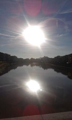 the river at Pisa - October 2016