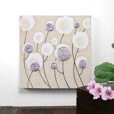 Dipinto originale di Rose - texture tela arte - lavanda e kaki Nursery Decor - arte piccolo muro 10x10