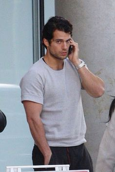 Henry Cavill On The Phone