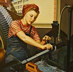 Francis Criss (1901-1973)  Day Shift  1943  Crystal Bridges Museum of American Art