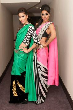 Masaba sarees....i like d aqua colored one specially d blouse she is wearing