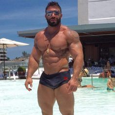 Muscular bear in prime cums