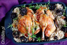 ChilliBite.pl - motywuje do gotowania!: Kurczak na płasko pieczony z rydzami