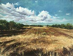 Il tempo della mietitura by Antonio Bonatesta Oil ~ 35 cm x 45 cm