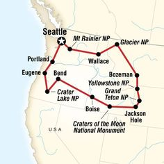 Road Trip Map of National Parks of the Northwest US Rv Travel, Travel Goals, Places To Travel, Family Travel, Adventure Travel, Travel Destinations, Budget Travel, Travel Gadgets, Family Vacations