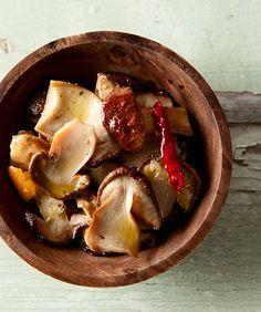 Italian marinated mushrooms, the best way to preserve any meaty mushroom. Recipe from Hunter Angler Gardener Cook.