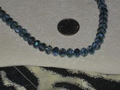 Beautiful Strand of  Blue Irredescent Faceted Glass by cthorses66, $4.75