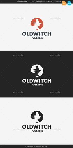 Old Witch Logo — Vector EPS #curse #horror • Available here → https://graphicriver.net/item/old-witch-logo/11409661?ref=pxcr