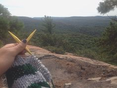 Some more pretty knitting views on our favorite hiking trail