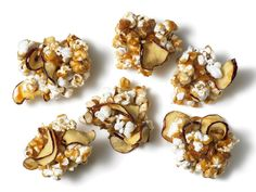 Caramel Apple Popcorn Clusters: You can't go wrong with caramel and apple chips. Add popcorn and you've got a modern twist on the classic popcorn ball.