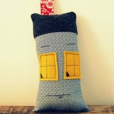"""Mr. House is a plush toy made out of new and recycled fabrics. He stands 8"""" tall excluding his chimney."""