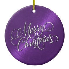 Shop Purple Sheen and Silver Merry Christmas Ceramic Ornament created by TailoredType. Merry Christmas Gif, Christmas Cover, Purple Christmas, Christmas Scenes, Merry Christmas And Happy New Year, Christmas Images, Christmas Wishes, Coastal Christmas, Christmas Things