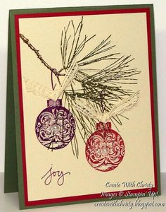 Christmas Ornament Card by StampinChristy - Cards and Paper Crafts at Splitcoaststampers