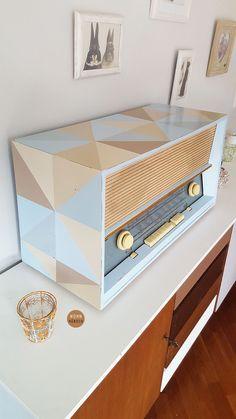Vintage Radio in Pastellfarben, Wohndeko / vintage radio, home decoration made by WohnHübsch via DaWanda.com