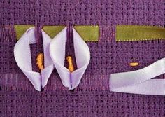 Resultado de imagen para bordado de fita trançado