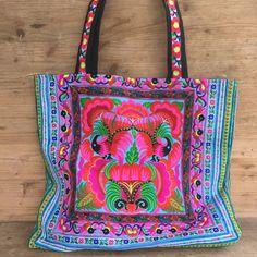 Handmade embroider tote bag