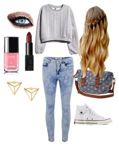 Untitled #5 by maggie0le on Polyvore featuring polyvore, fashion, style, H&M, ONLY, Converse, Olsenboye and NARS Cosmetics