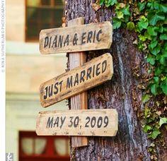 Tree Wedding Signs