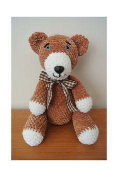 medvídek+Honzík+medvídek+háčkovaný+z+měkkoučké+příze+dolphin+baby,plněné+dutým+vláknem,bezpečnostní+oči+a+čumáček,výška+35+cm-tento+už+má+svého+majitele,je+možno+uháčkovat+na+přání:o) Teddy Bear, Animals, Animales, Animaux, Teddy Bears, Animal, Animais