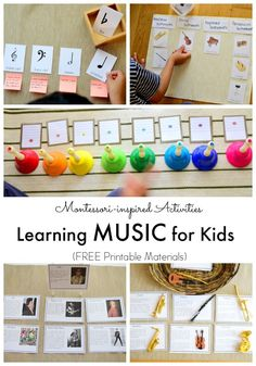 Learning Music for Kids Musik lernen für Kinder Music Activities For Kids, Music Lessons For Kids, Music Lesson Plans, Music For Kids, Math For Kids, Piano Lessons, Kids Learning, Music Education Activities, Montessori Education