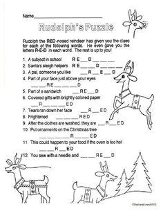 HO HO HOs & Rudolph's Red Nose Freebie