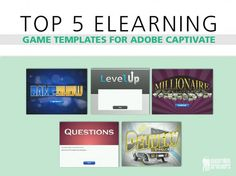 Top 5 eLearning Game Templates for Adobe Captivate  Since we began offering eLearning Game Templates for Adobe Captivate, our international audience from 99 countries has been downloading them en masse.  What is your favorite eLearning Game? http://bit.ly/1FI9O3J  #AdobeCaptivate #AdobeCaptivate8 #Captivate8 #eLearningTemplates #CaptivateTemplates #eLearning