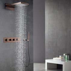 Waterfall Rain Shower Head & Handheld Shower Set in Oil Rubbed Bronze - Shower Systems - Shower Faucets - Faucets
