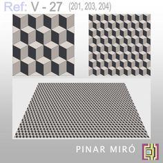 Cement tile V-27 - Pinar Miró - cement tiles