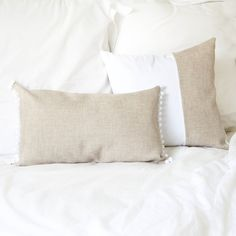 Inspired by the boho-chic of our friends at The Dusty Poppy, the Hampton Lumbar cushion cover fosters elegance, comfort and affordable luxury.  Available in sand and grey, each cushion cover measures 30cm x 50cm, has pompom detail and an envelope closure finished with three snap buttons.  Each piece is handmade by Cotton
