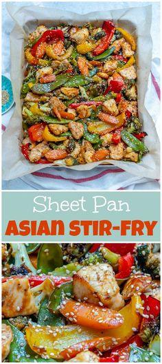 Clean Eating Sheet Pan Teriyaki Chicken   Veggie Stir Fry! | Clean Food Crush