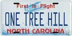 One Tree Hill North Carolina License plate