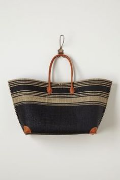 Anthropologie seaside striped tote.