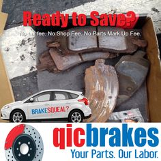 Rates vary by state,shop or tire center.  Up to 312.5% saving's potential without a coupon. #qicbrakes brake care #no #coupon