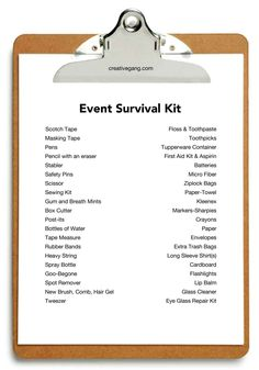 event checklist                                                       …