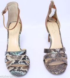 New-W-Flaws-Jessica-Simpson-Maselli-Sandal-Earth-Snake-Shoes-Brown-10M-W501