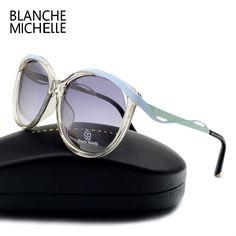 Only $16.96 , Blanche Cat eye Polarized Sunglasses Women Pink Frame Sun Glasses Brand Designer Female Ladies Shades Sunglass Eyewear With Box Stylish Glasses For Women, Polarized Sunglasses, Sunglasses Women, Glasses Brands, Cat Eye, Eyewear, Branding Design, Shades, Female