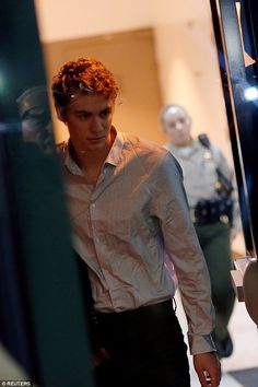 On his way: After just three months, Brock Turner walked out of San Jose's Main Jail South...